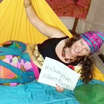 Hammocks make everything an adventureeven birthday party photo booths! Happyhellip